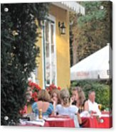 Vienna Restaurant In The Park Acrylic Print