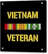 Vietnam Veteran Ribbon Bar  Acrylic Print