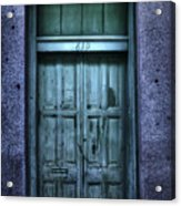 Vieux Carre' Doorway At Night Acrylic Print