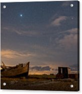 View Across Dungeness Peninsula At Night. Acrylic Print