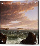 View Across Frenchman's Bay From Mt. Desert Island After A Squall Acrylic Print by Thomas Cole