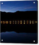 View Across Lake Bled At Night Acrylic Print