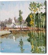 View Across The Pond Acrylic Print