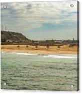 View At La Loberia Beach In Salinas, Ecuador  Acrylic Print