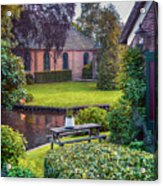 View At Old Church  In Dutch Village Acrylic Print