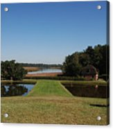 View Down To The Ashley River At Middleton Place Plantation Charleston Acrylic Print