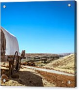 View From A Sheep Herder Wagon Acrylic Print