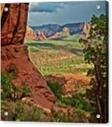 View From A Vortex, Cathedral Rock, Sedona, Arizona Acrylic Print