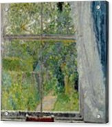 View From A Window Acrylic Print by Spencer Frederick Gore