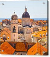 View From Above Of Dubrovnik Acrylic Print