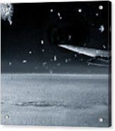 The View From Airplane Bw Acrylic Print