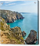 View From Cabo Da Roca, The Western Point Of Europe, Portugal Acrylic Print