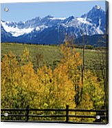 View From Hwy 62, Ouray County, Co Acrylic Print