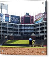 View From Dugout Acrylic Print by Malania Hammer