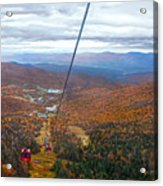View From Mount Mansfield In Autumn Acrylic Print