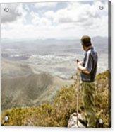 View From Mt Zeehan Tasmania Acrylic Print