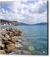View From North Wall - Lyme Regis Acrylic Print
