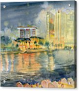View From Quay Singapore Acrylic Print