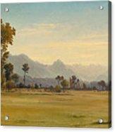 View From Schoenbuehl Toward The Vitznauerstock Acrylic Print