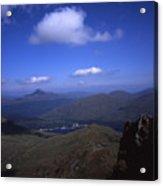 View From Summit Of Ben Arthur The Cobbler  Towards Loch Long Arrochar Loch Lomond And Ben Lomond Acrylic Print