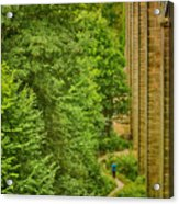 View From The Lllangollen Aqueduct In Wales Acrylic Print