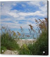 View From The Outer Banks Dunes Acrylic Print