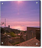 View From The Top In Sicily 2 Acrylic Print