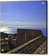View From The Top In Sicily Acrylic Print
