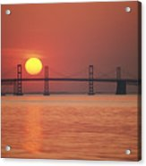 View From The Water Of The Chesapeake Acrylic Print