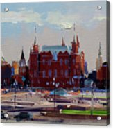 View From The Window Of The Hotel Metropol. Moscow. Manezhnaya Square. Acrylic Print