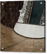 View From Top Of Hoover Dam Acrylic Print