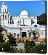 View From Tthe Hill - San Xavier Mission - Tucson Arizona Acrylic Print