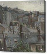 View From Vincent S Studio Paris, June 1886 Vincent Van Gogh 1853  1890 Acrylic Print
