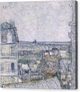 View From Vincent's Room In The Rue Lepic Acrylic Print
