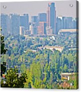 View From Wealthy Neighborhood In Hills Of Santiago-chile Acrylic Print
