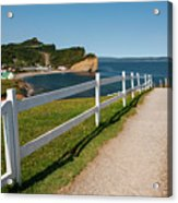 View In Perce Quebec Acrylic Print