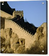 View Of A Section Of The Great Wall Acrylic Print by Michael S. Yamashita