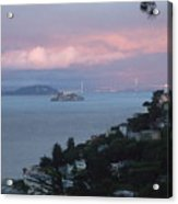 View Of Alcatraz From Our Sausalito Home Acrylic Print