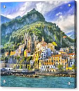 View Of Amalfi Acrylic Print
