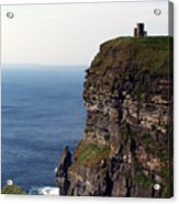 View Of Aran Islands And Cliffs Of Moher County Clare Ireland  Acrylic Print
