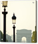 View Of Arc De Triomphe Acrylic Print