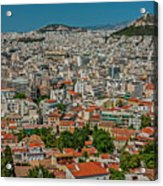 View Of Athens, Greece, From The Parthenon Acrylic Print