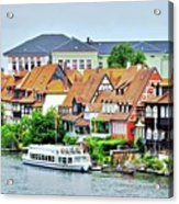 View Of Bamberg Riverfront Acrylic Print