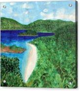 View Of Beach In St John Us Virgin Islands  Acrylic Print
