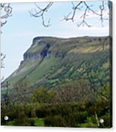 View Of Benbulben From Glencar Lake Ireland Acrylic Print