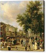 View Of Boulevard Montmartre Acrylic Print