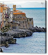 View Of Cefalu Sicily Acrylic Print