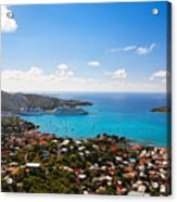 View Of Charlotte Amalie St Thomas Us Virgin Islands Acrylic Print