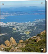 View Of City From Mountain Top Acrylic Print