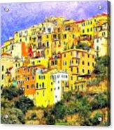 View Of Corniglia - Cinque Terre Acrylic Print